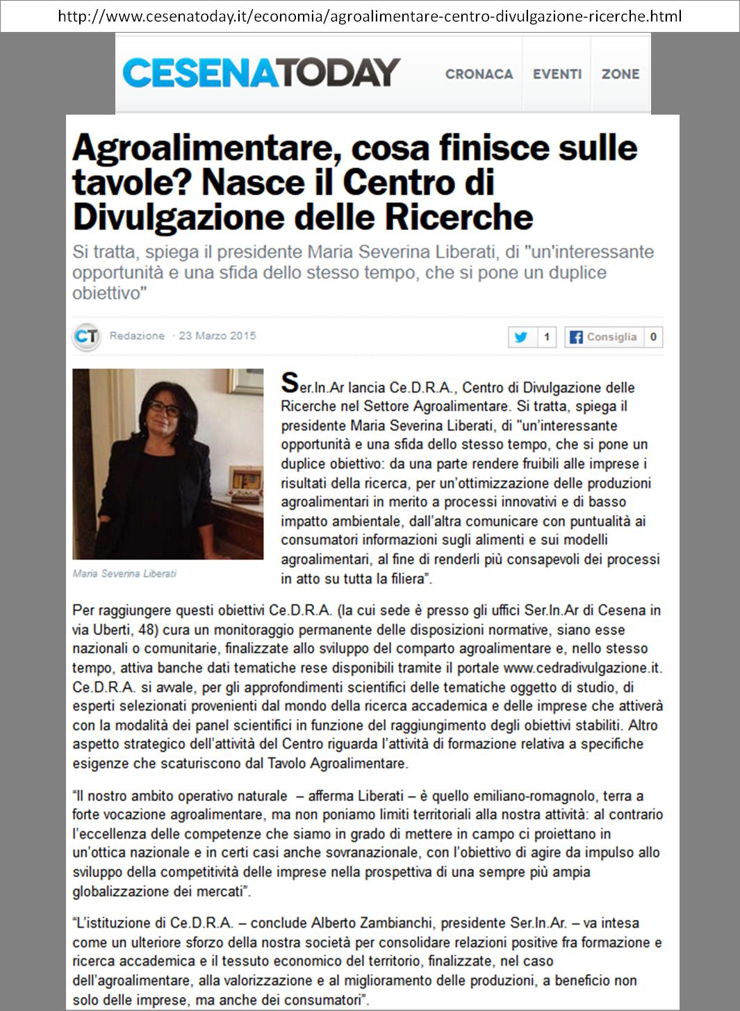 Cesena-Today del 24 marzo 2015