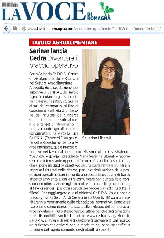 La Voce di Romagna del 2 aprile 2015