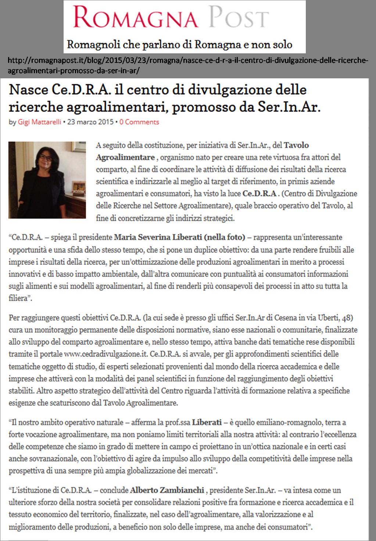 Romagna-Post del 23 marzo 2015